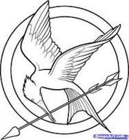 Image result for mockingjay pin template in 2019.