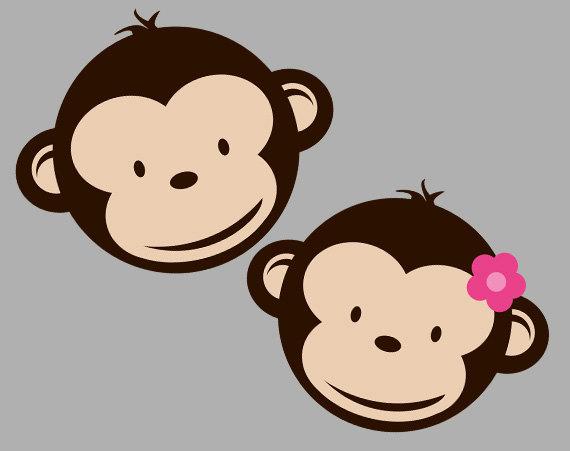 Mod Monkey Clipart.