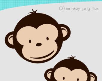 Pink Mod Monkey Clipart.