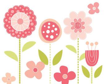 Mod Flower Clipart.