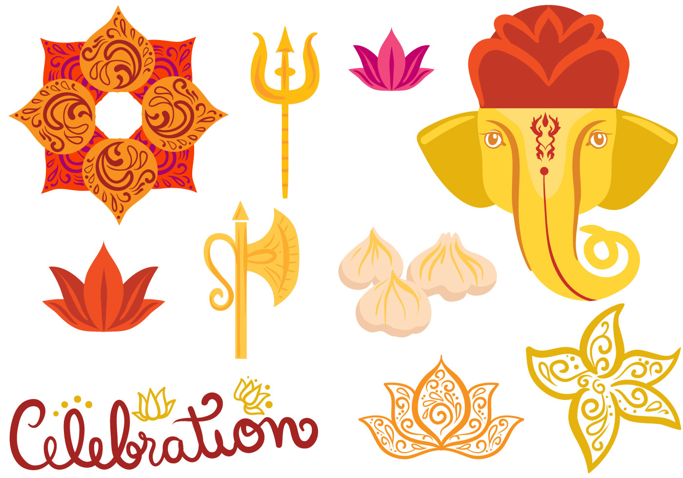 Modak Free Vector Art.
