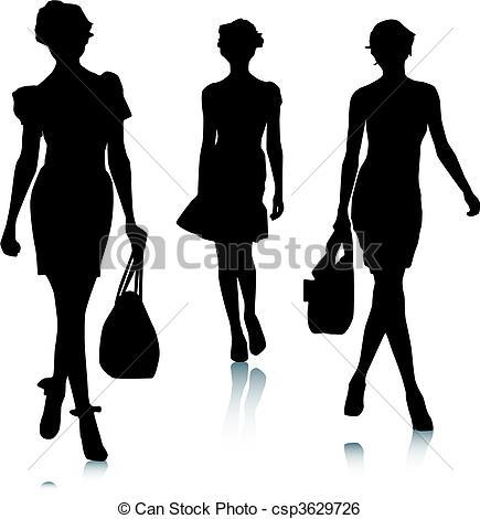 Clipart mode femme.