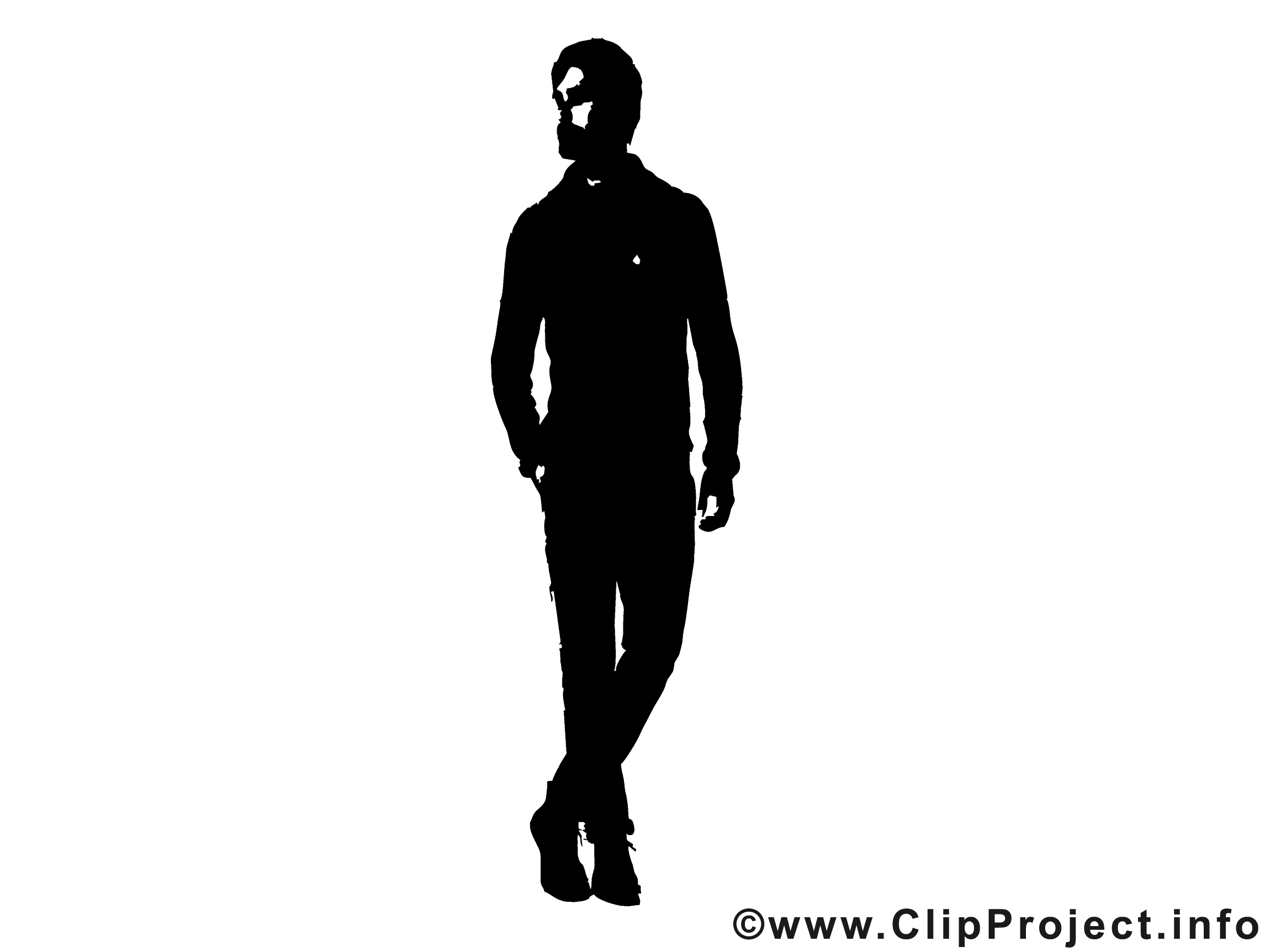 Model Man Clipart.