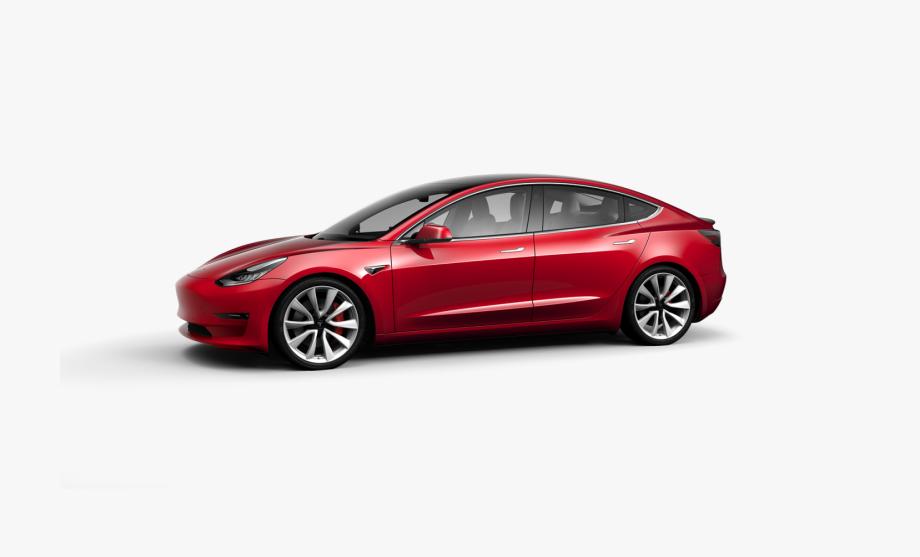 Tesla Transparent Red.