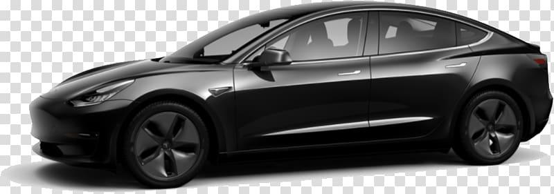 Black sedan, Tesla Model 3 Black transparent background PNG.