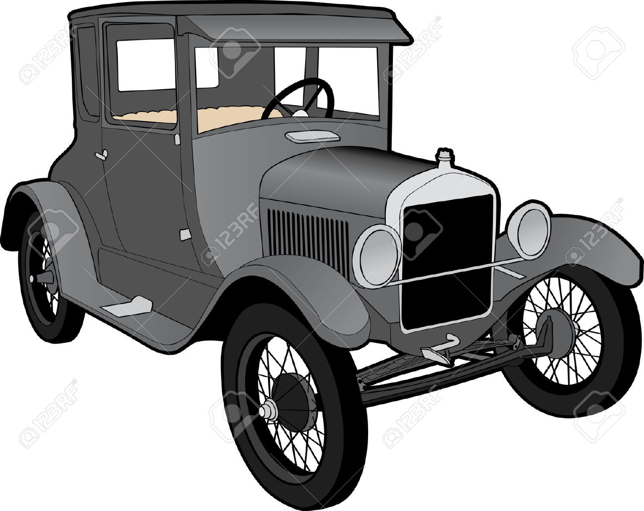 Model t ford clipart.