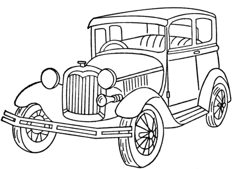 Ford Model A coloring page.