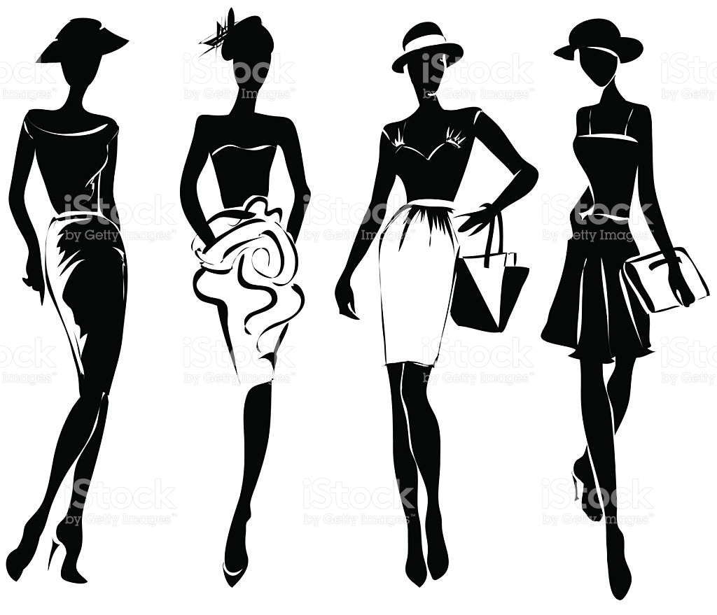 Fashion Show Models Clipart.