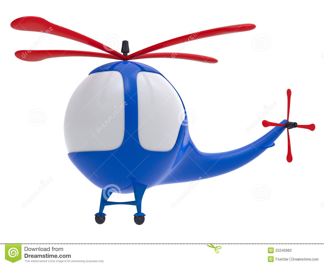 Cartoon Toy Helicopter Stock Photos.
