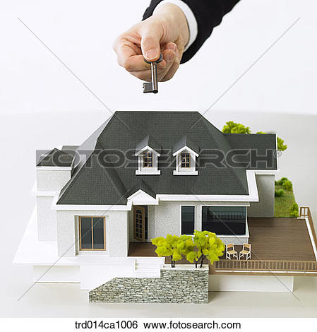 Stock Images of object, house, model house, house, model, hand.