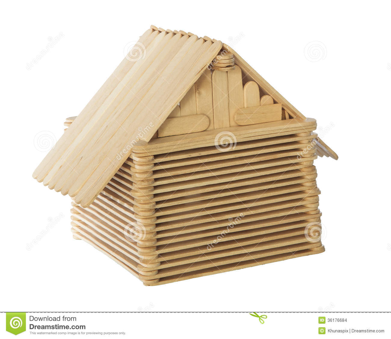 Stick House Clipart Wood Stick Home Model Isolated #MBcuLH.