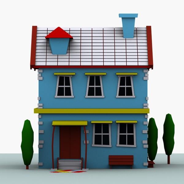 3d model car house.