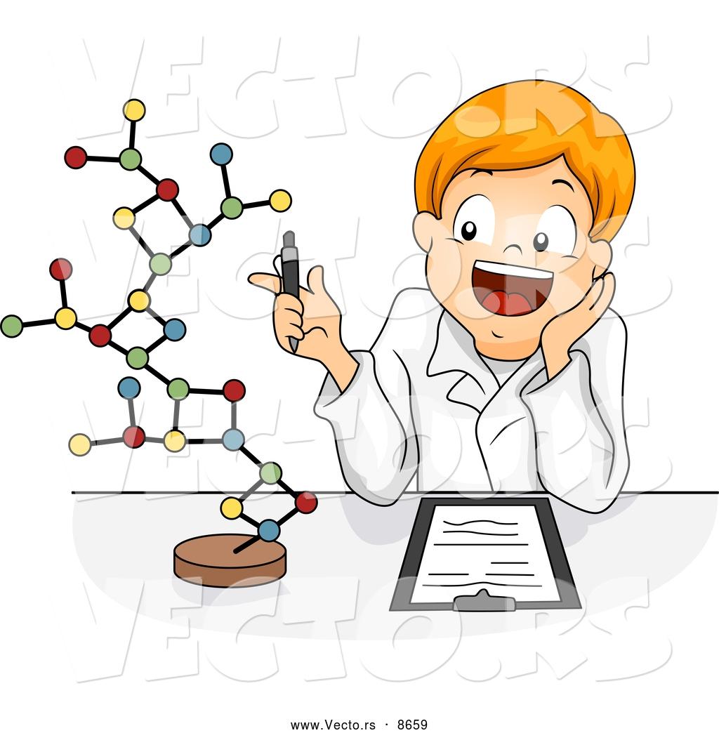 Model In Science Clipart.