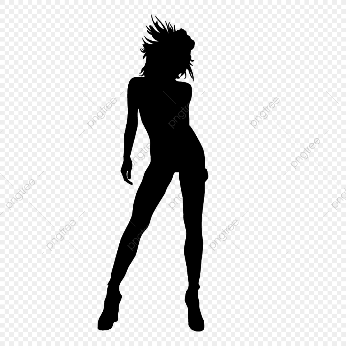 Female Silhouette Model, Family, Family Tree, Girl Dancing.
