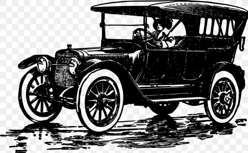 Classic Car Ford Model T Clip Art, PNG, 2400x1487px, Car.