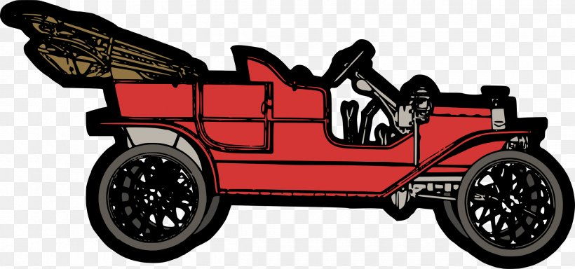 Ford Model T Car Clip Art, PNG, 2400x1124px, Ford Model T.