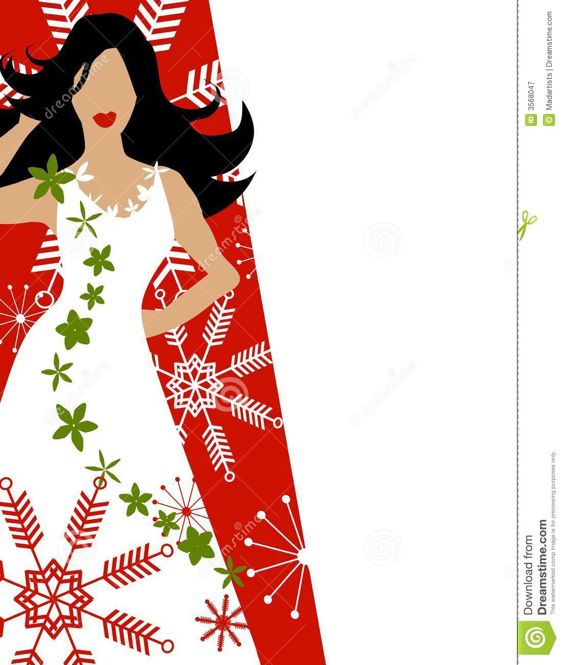 Winter Dress Fashion Model Red Royalty Free Stock Photography.