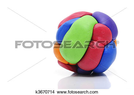 Stock Photo of modelling clay ball k3670714.