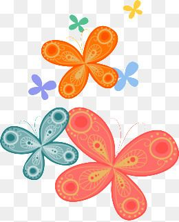 Mano mariposa de colores modelos.