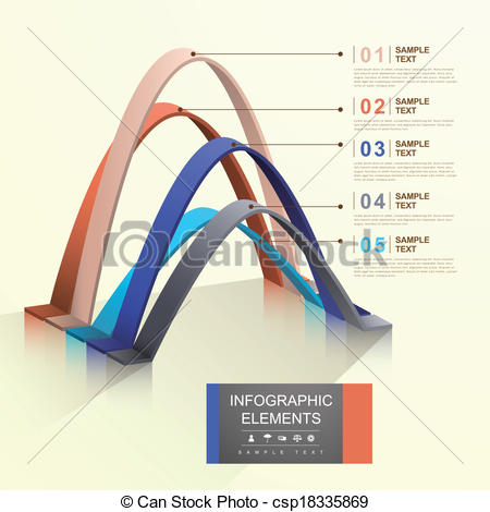 Clip Art Vector of abstract arch infographics.
