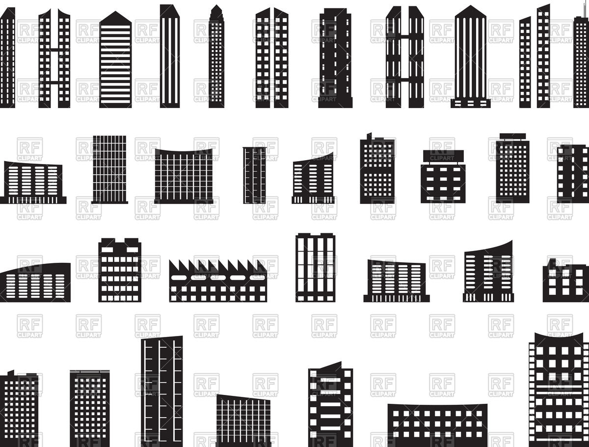 Modern architecture clipart.