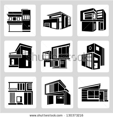Modern House Stock Vectors, Images & Vector Art.