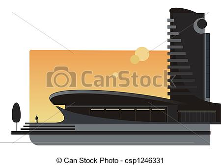 Clipart of Modern architecture 2.