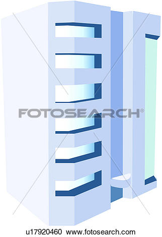 Clipart of modern architecture, apartment house, logo, block of.