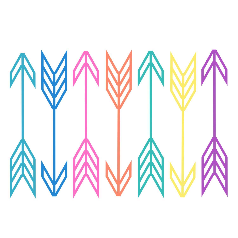 Neon arrow clipart // Digital arrows // Scrapbooking.