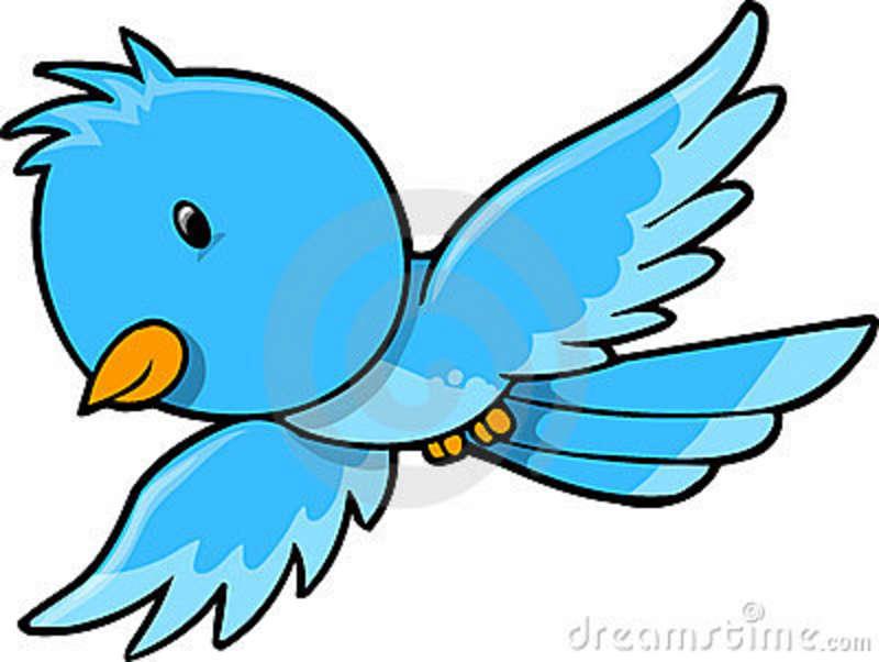 Flying Blue Bird Clipart.