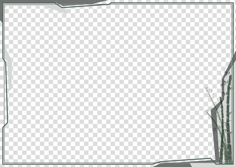 Modern Border, square gray frame illustration transparent.
