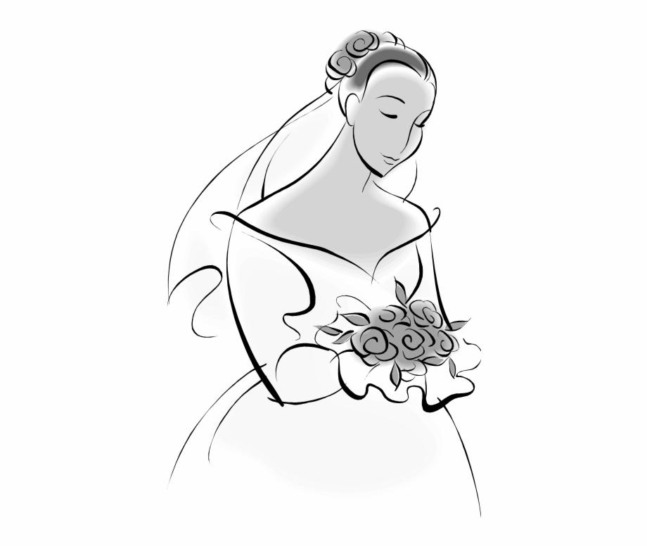 Groom Clipart Modern Bride Gown.