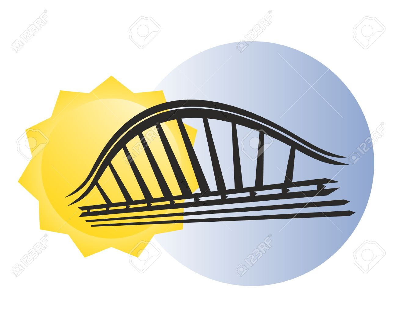 Modern Bridge Design Royalty Free Cliparts, Vectors, And Stock.