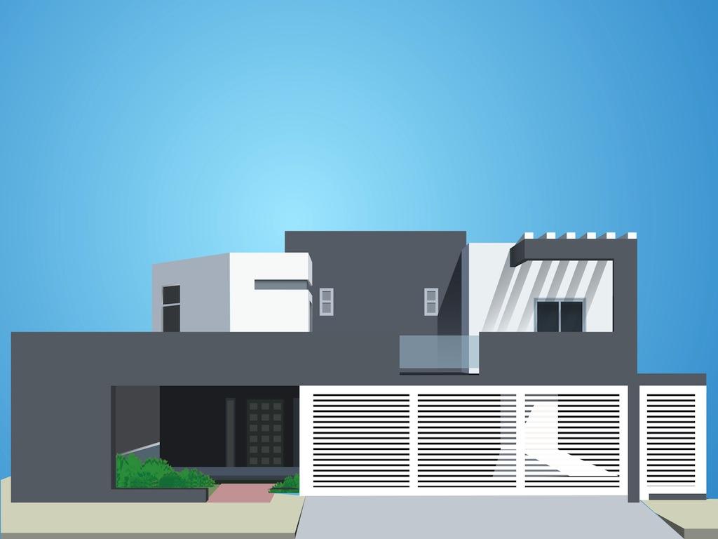 Modern Building Clip Art Modern House #ZsdiAs.