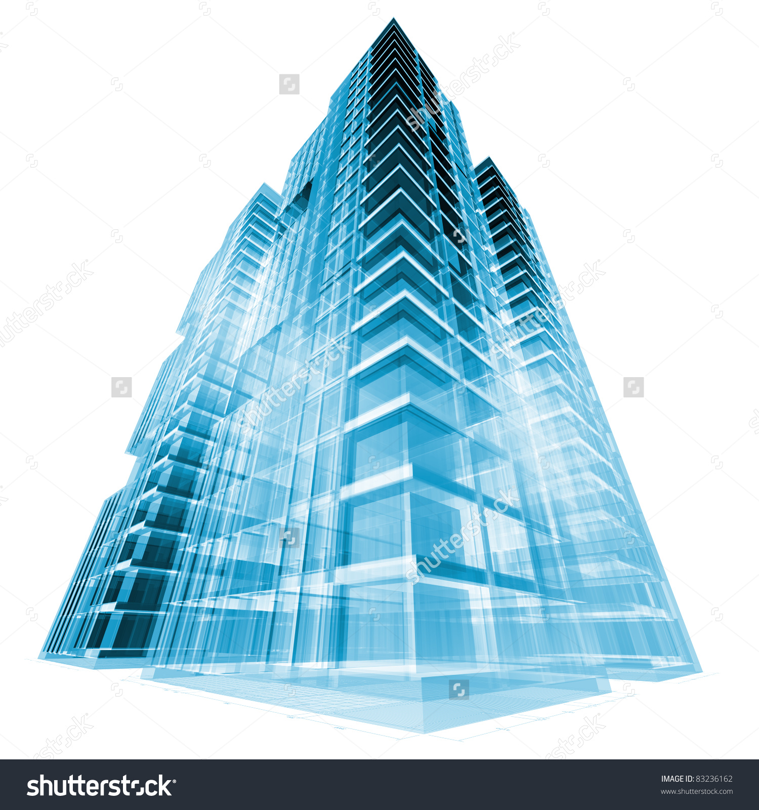 Modern Building 3d Render Concept Stock Illustration 83236162.