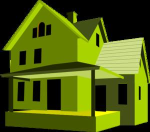 Modern house clipart.