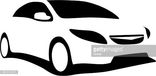 Modern Car Silhouette premium clipart.