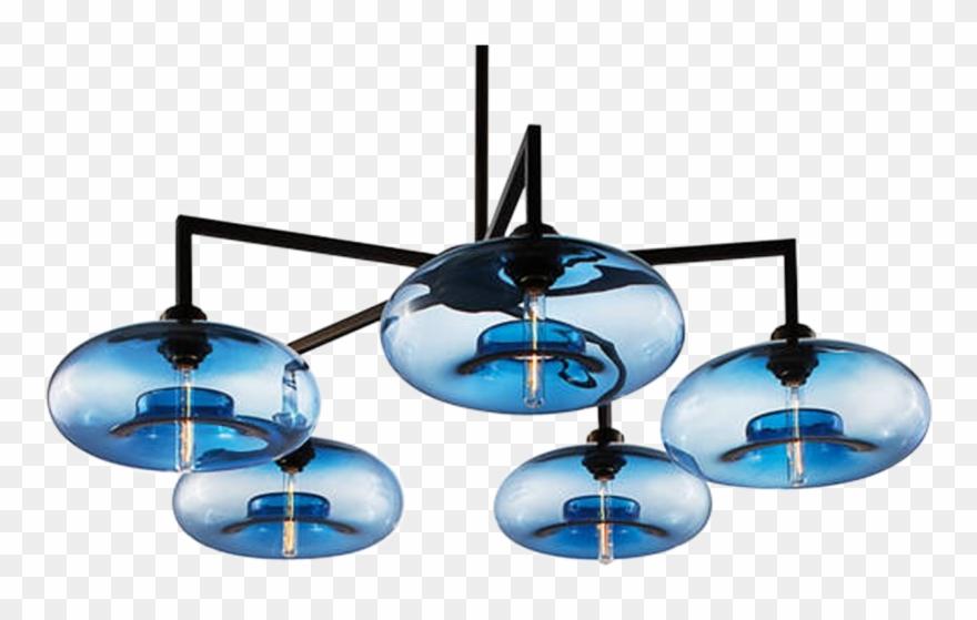 Niche Lighting Quill 5 Modern Glass Chandelier.