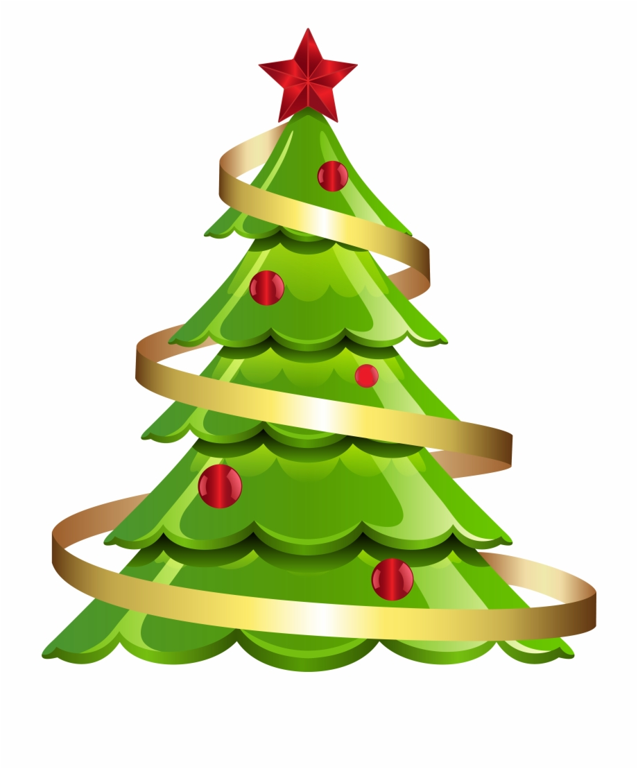 Modern Christmas Tree Clipart Free.