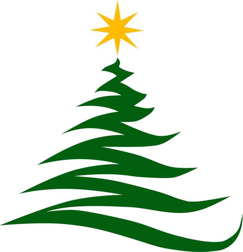 10829 Christmas Tree free clipart.