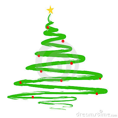 Free Modern Christmas Tree Clipart.