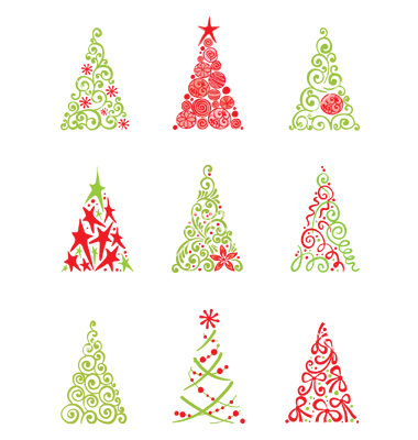 Showing post & media for Modern christmas tree cartoon.