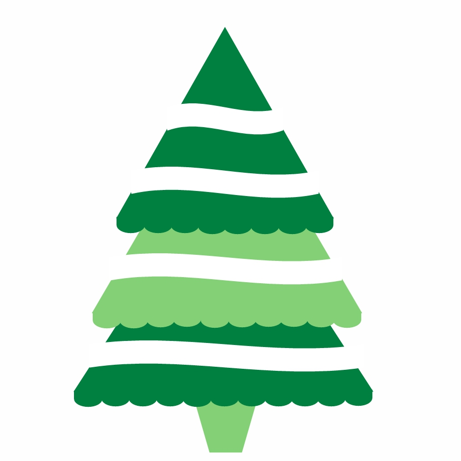 Modern Christmas Tree Clipart#2106091.