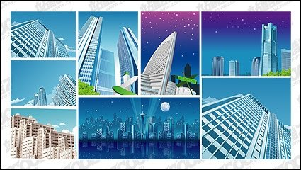 Modern city landscape Clipart Picture Free Download.