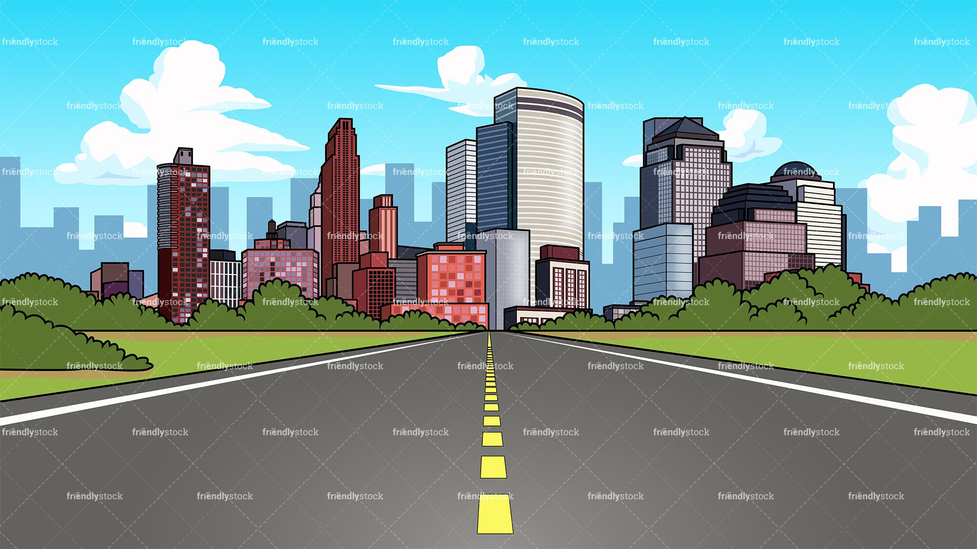 City Highway Background in 2019.