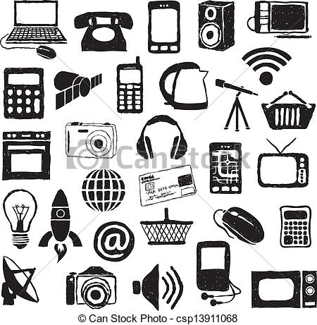 Modern clipart images.