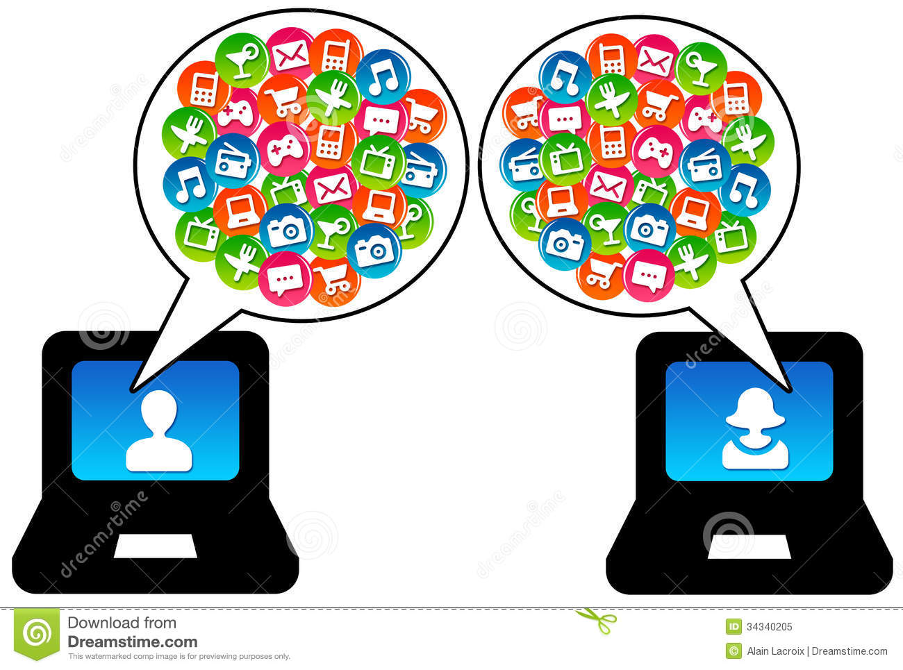 Modern Communication Clipart 20 Free Cliparts
