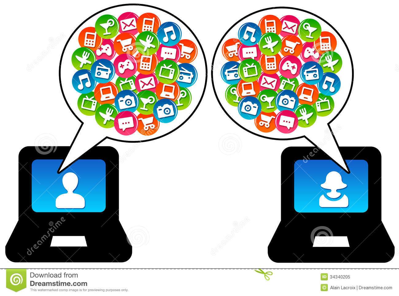 Modern Communication Royalty Free Stock Photo.