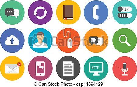 Vector Illustration of Modern communication icons set.