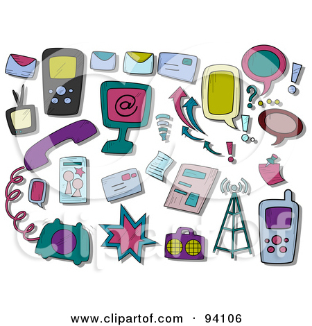 Clipart communication icons free.